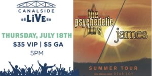 Canalside Live Series: The Psychedelic Furs and James @ Canalside Hanover Street Buffalo, NY 14202 United States | | |
